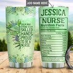 Personalized Proud Nurse Facts HLZ2112017 Stainless Steel Tumbler