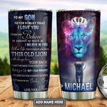 Personalized Lion Mom To Son PYZ2112010 Stainless Steel Tumbler
