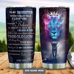 Personalized Lion Mom To Daughter PYZ2112009 Stainless Steel Tumbler