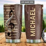 Personalized Piano Leather Style PYZ2112016 Stainless Steel Tumbler