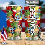 Personalized Colorful Puerto Rico Symbols HLZ2112004 Stainless Steel Tumbler