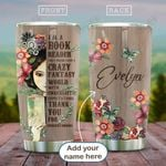 Girl Who Loves Books Personalized HAB2112003 Stainless Steel Tumbler