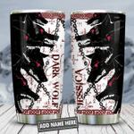 Vikings Dark Wolf Personalized KD2 HNL2112013 Stainless Steel Tumbler