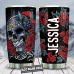 Skull Roses Darkside Personalized KD2 HNL2112012 Stainless Steel Tumbler