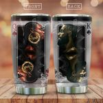 Afro King And Queen Couple KD2 HAL2112005 Stainless Steel Tumbler