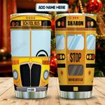 Cartoon Style School Bus Personalized KD2 MAL2112007 Stainless Steel Tumbler