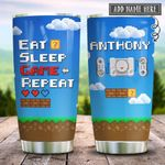 Retro Gaming Eat Sleep Game Repeat Personalized KD2 HRX2112004 Stainless Steel Tumbler