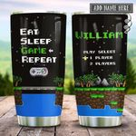 Retro Gaming Eat Sleep Game Personalized KD2 HRX2112003 Stainless Steel Tumbler