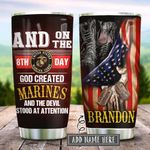 Marines On The 8th Day Personalized KD2 HRX2112001 Stainless Steel Tumbler