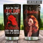 Redheads On The 8th Day Personalized KD2 HRX2212003 Stainless Steel Tumbler