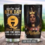 Black Queen And On The 8th Day Personalized KD2 HRX2212001 Stainless Steel Tumbler