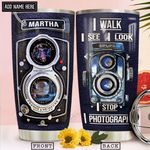Vintage Camera Personalized NNR2212017 Stainless Steel Tumbler