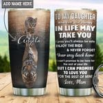 Personalized Cat Mom To Daughter HLZ2212008 Stainless Steel Tumbler