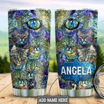 Personalized Cat Glass Style HLZ2212007 Stainless Steel Tumbler