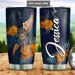 Personalized Hibiscus Turtle TTZ2212013 Stainless Steel Tumbler