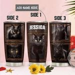 Personalized Black Cat TTZ2212004 Stainless Steel Tumbler
