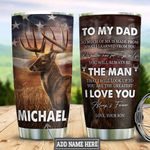 Personalized Deer Son To Dad HLZ2212010 Stainless Steel Tumbler