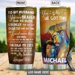 Black King And Queen Personalized HHS2212001 Stainless Steel Tumbler