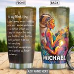 Black King Husband Personalized HHS2212002 Stainless Steel Tumbler