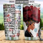 Red Hair Black Queen Personalized HHS2212007 Stainless Steel Tumbler