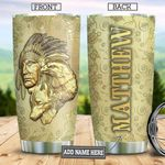 Golden Native American KD4 Personalized TAA2212001 Stainless Steel Tumbler
