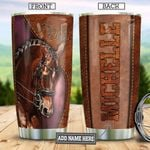 Horse Leather Personalized TAA2212002 Stainless Steel Tumbler