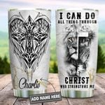 I Can Do All Things Lion Faith Personalized KD2 HNL2212006 Stainless Steel Tumbler