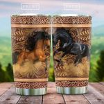 Wooden Style Horse Couple KD2 HAL2212011 Stainless Steel Tumbler