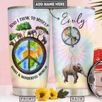 Elephant Hippie Personalized PYR2312010 Stainless Steel Tumbler