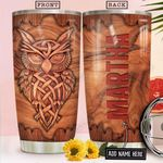 Owl Wooden Style Personalized NNR2312014 Stainless Steel Tumbler