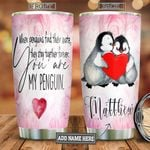 Penguin Couple KD4 Personalized TAA2312008 Stainless Steel Tumbler