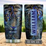 Tiger Glass Style Personalized KD2 BGM2312012 Stainless Steel Tumbler