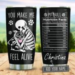 Pitbull Nutrition Facts Personalized KD2 BGM2312007 Stainless Steel Tumbler