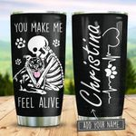 Pitbull Makes Me Feel Alive Personalized KD2 BGM2312006 Stainless Steel Tumbler