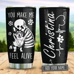 Corgi Makes Me Feel Alive Personalized KD2 BGM2312002 Stainless Steel Tumbler
