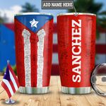 Personalized Raised Fists Puerto Rico HLZ2312019 Stainless Steel Tumbler