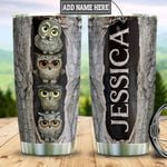Personalized Owl Wood Style HLZ2312009 Stainless Steel Tumbler