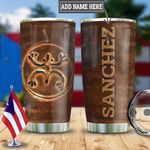 Personalized Puerto Rico Coqui Ceramic Style HLZ2312015 Stainless Steel Tumbler