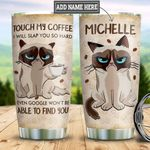 Personalized Grumpy Cat Coffee DNZ2312006 Stainless Steel Tumbler