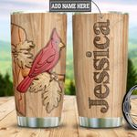 Personalized Cardinal Wood Style HLZ2312002 Stainless Steel Tumbler