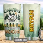 Personalized Camping Beer DNZ2312001 Stainless Steel Tumbler