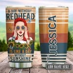 Redhead Sunshine Vintage Personalized KD2 HRX2312006 Stainless Steel Tumbler