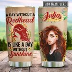 Redhead Sunshine Sunflower Personalized KD2 HRX2312004 Stainless Steel Tumbler