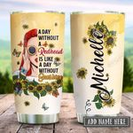 Redhead Sunflower Sunshine Personalized KD2 HRX2312002 Stainless Steel Tumbler