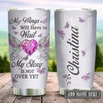 Breast Cancer Awareness Jewelry Style Personalized KD2 HRX2312001 Stainless Steel Tumbler