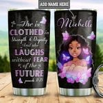 Personalized Black Queen Faith TTS2312002 Stainless Steel Tumbler