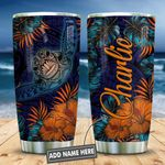 Turtle Hibiscus Personalized KD2 HNL2312005 Stainless Steel Tumbler