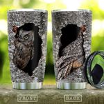 Wooden Style Owl In The Tree KD2 HAL2312006 Stainless Steel Tumbler