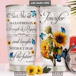 Butterfly Faith Personalized PYR2412011 Stainless Steel Tumbler