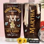 Butterfly Faith Personalized NNR2412010 Stainless Steel Tumbler